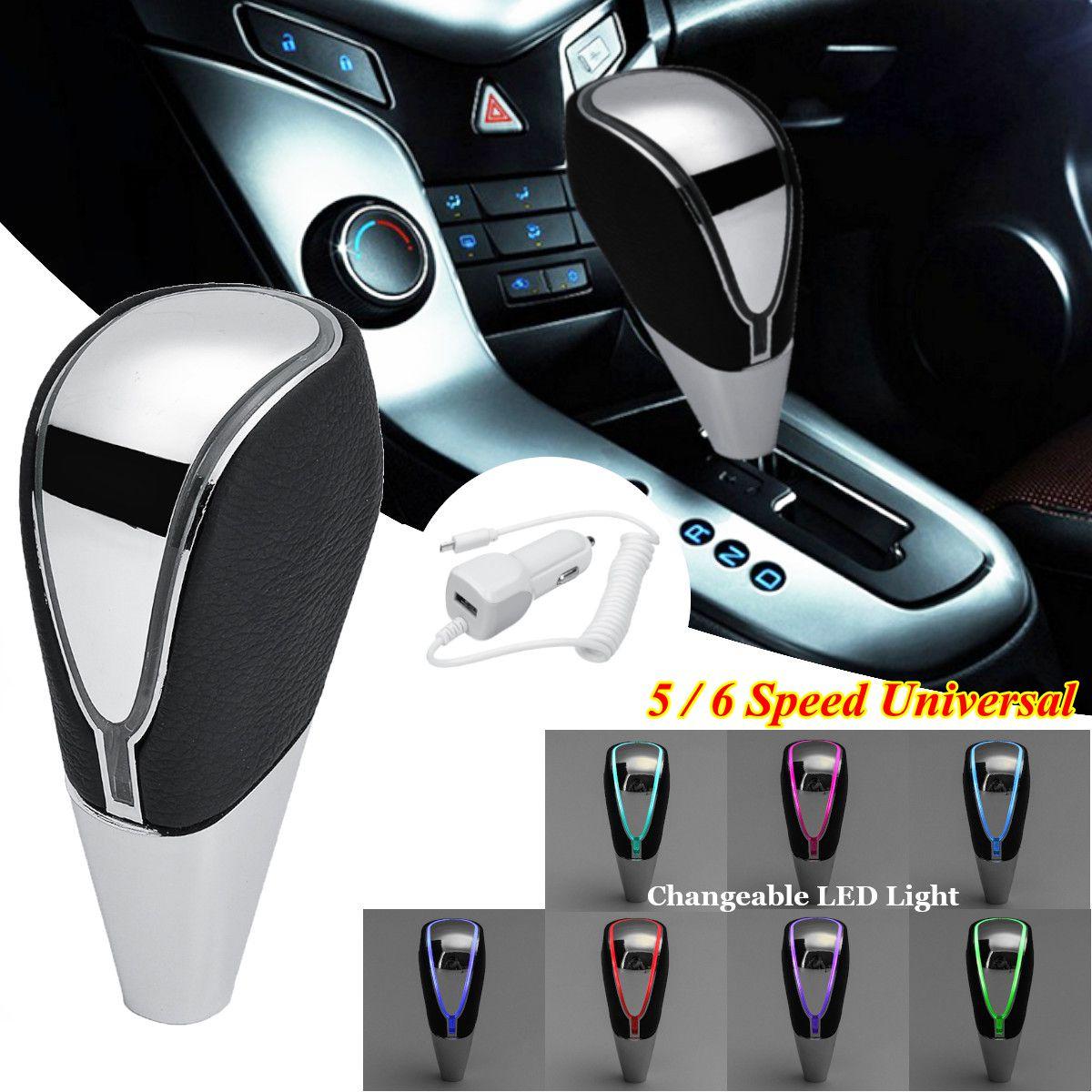 Carro universal mt no botão de mudança de engrenagem mutável multi-cor led luz para sensor de toque ativado shifter engrenagem alavanca
