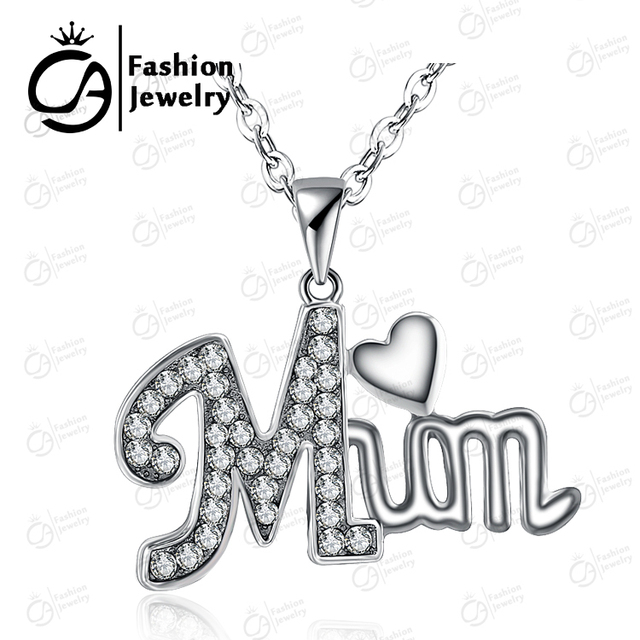 Mother Day Heart Pendant Necklace
