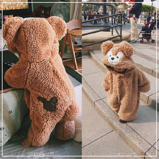 Newborn Winter Clothes Animal Costumes Bear Winter Overalls For Kids