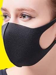 ACHIEWELL 3 шт. Маски Комплект однотонная дышащая моющиеся анти смога маска для лица