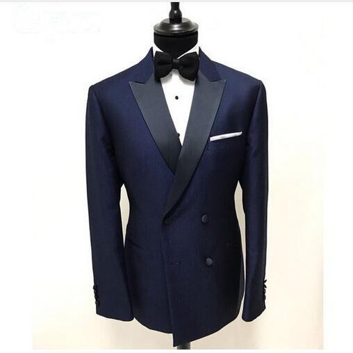 Azul Same Piezas As Encargo chaqueta Hombres Doble Botonadura Trajes Esmoquin Juego La Novio Pant Solapa Picture Hombre Por Del De Boda Dos Mejor Vest 15pvBq