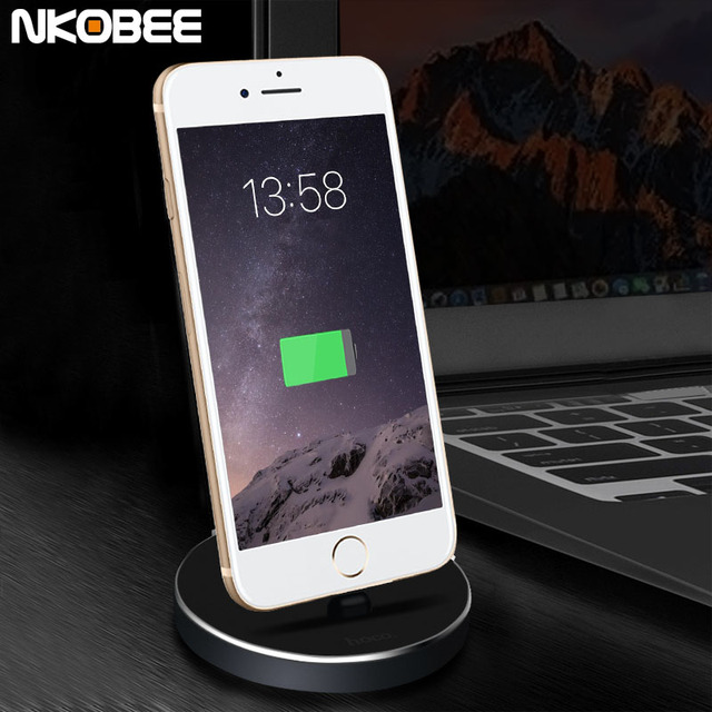 timeless design ac568 9f589 US $18.31 |2.4A For iPhone Dock Station Sync Data Charging For iPhone 7  Dock Stand USB Charger Adapter Desktop Dock For iPhone 6 7 Plus 5C-in  Mobile ...