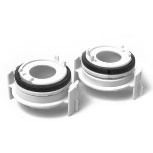 Image 2 - 1 paar H7 Scheinwerfer Birne Adapter Halter für BMW 3 Serie 318i E65 E90 LED Scheinwerfer Birne Adapter Hohe Qualität auto Auto Zubehör
