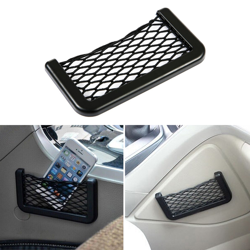 1x Car Phone Holder Storage Bag Mesh Net For Ford Focus 2