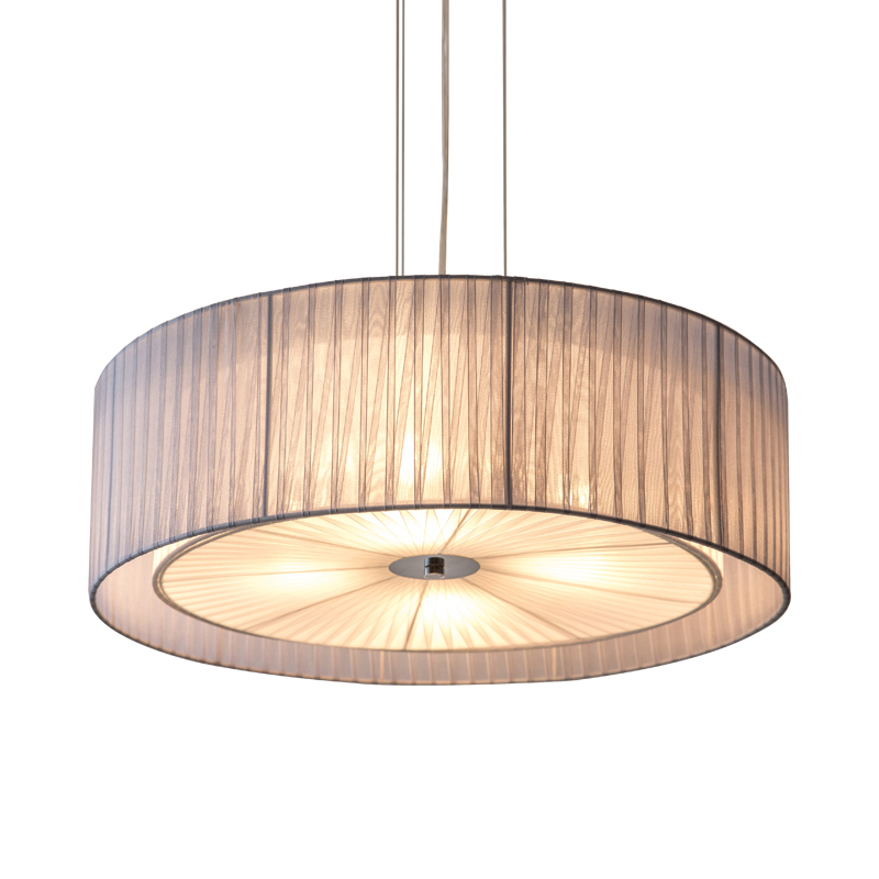 Modern nordic bedroom iron E27 bulb chandeliers DIY warm design circular restaurant chandelier lamps gauze fabric lampshade modern fashion simple circular wooden handle aluminum lid chandelier made of iron painting diameter 50cm ac110 240v