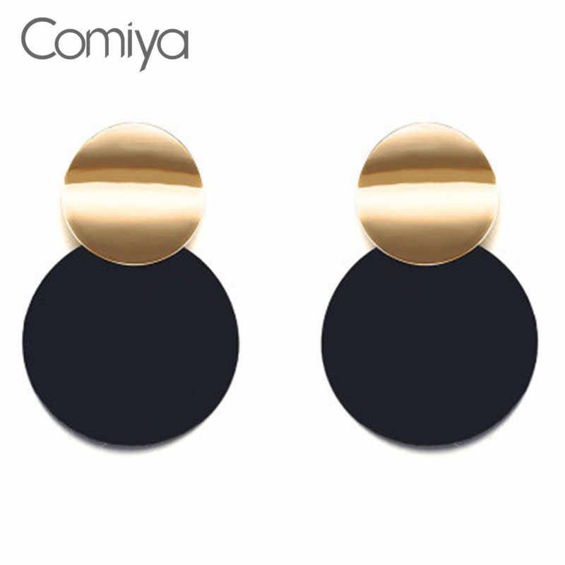 Женские акриловые серьги Comiya большие круглые капельки из цинкового