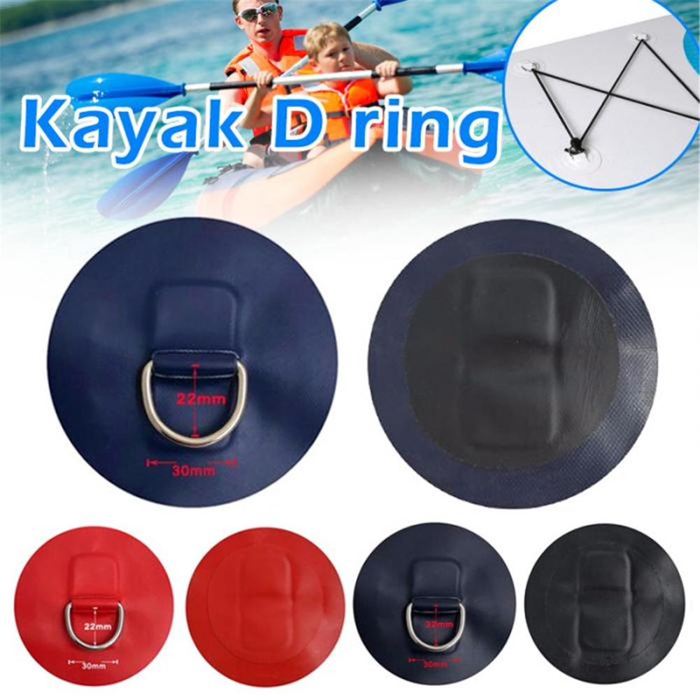 Stainless Steel D-Ring Pad Patch PVC Round Ring Pad For Inflatable Boat Raft Dinghy Surfboard Watercraft Parts Accessories 4