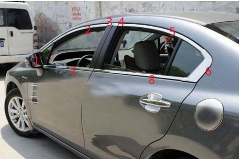 Сталь окна полный Полное Вокруг чехол накладка для Honda Civic Седан 2012 2013