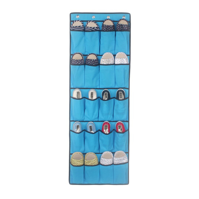 20 Pockets Shoes Storage Hanging Bag Rack Non Woven Cloth Shose Storage Bag  Space Saving