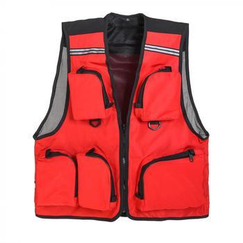 Mężczyźni kobiety Outdoor sporty wodne cienka oddychająca kamizelka ratunkowa wędkarska 5 kieszeń Quick Dry Mesh Survival stroje kąpielowe kamizelka kurtka tanie i dobre opinie weihefishing Szybkie suche