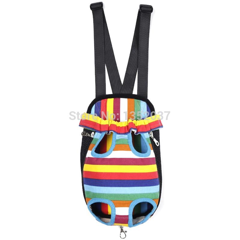 Free shipping Pet Travel Carrier Pet dog cat chest bag backpack pet shoulder bag Pet Products Striped