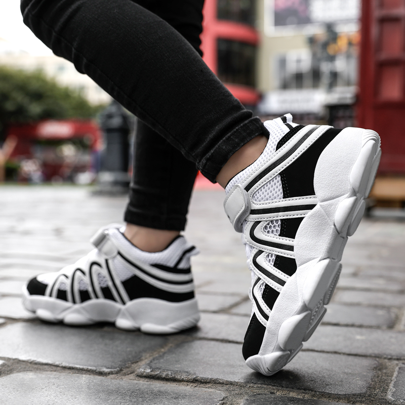 Summer Simple Shoes Kids Boy New Child Fashion Sneakers White Black Stylish Designer Boy Shoes Cheap Mesh Kid Running Shoes in Running Shoes from Sports Entertainment