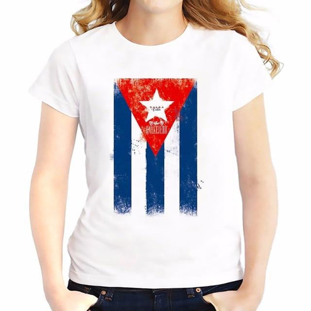 Cuba bandiera salsa modello t shirt feminina jollypeach brand new maglietta  Traspirante tshirt Manica Corta casual 6567f1d3e54d