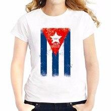 Cuba flag salsa pattern t shirts feminina jollypeach brand new Tee shirt Breathable tshirt Short Sleeve casual T-Shirts femme