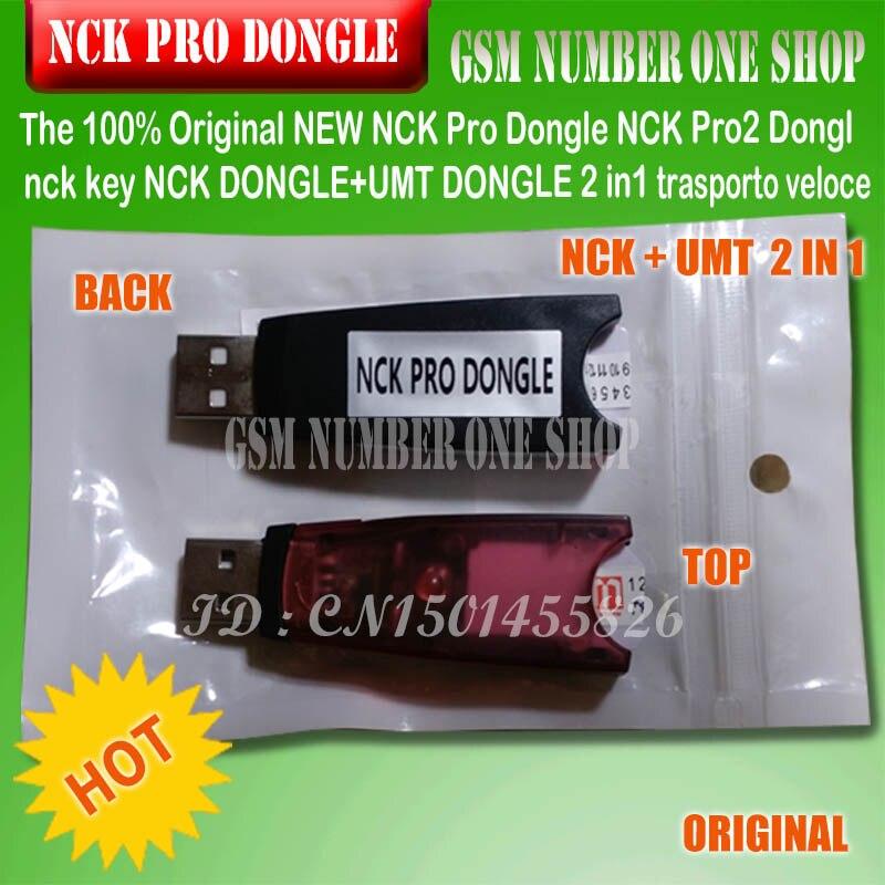 Gsmjustoncct 100% 2019 Original nuevo NCK Pro Dongle NCK Pro 2 DONGLE nck clave NCK DONGLE + UMT Dongle 2 in1 envío rápido