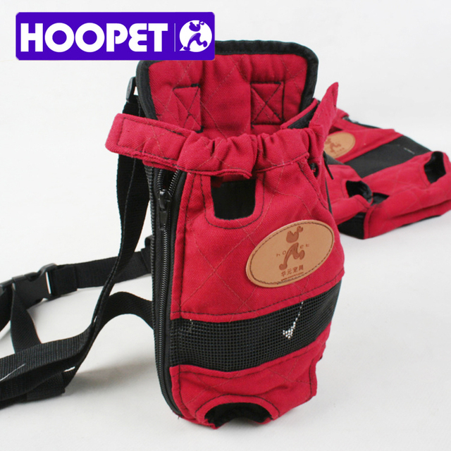 HOOPET Dog carrier fashion red color Travel dog backpack breathable pet bags shoulder pet puppy carrier 2