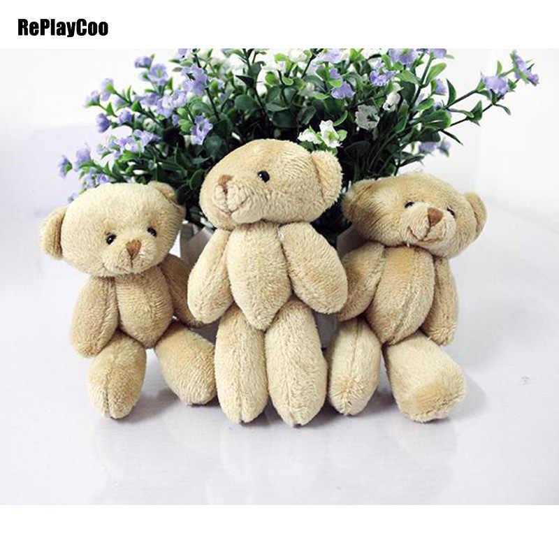 50 pçs/lote Kawaii Pequeno Ursos de Pelúcia Conjuntas Bicho de Pelúcia 12 CM Brinquedo de Pelúcia-Urso Mini Ted Urso de pelúcia Ursos de Pelúcia brinquedos Presentes de Casamento 044