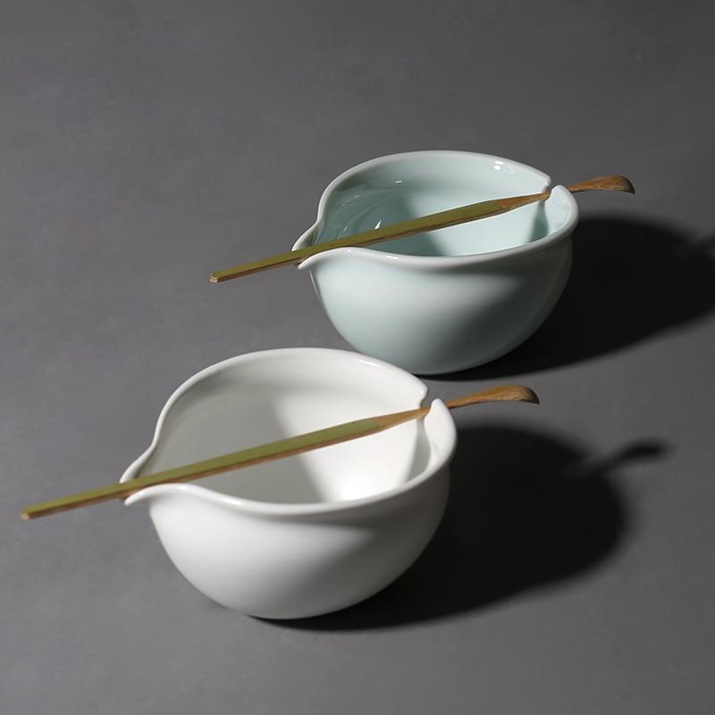 PINNY 220ml Porcelain Green Tea Infuser High Quality Ceramic Tea Strainers Kung Fu Tea Set Tea Ceremony Accessories Bamboo