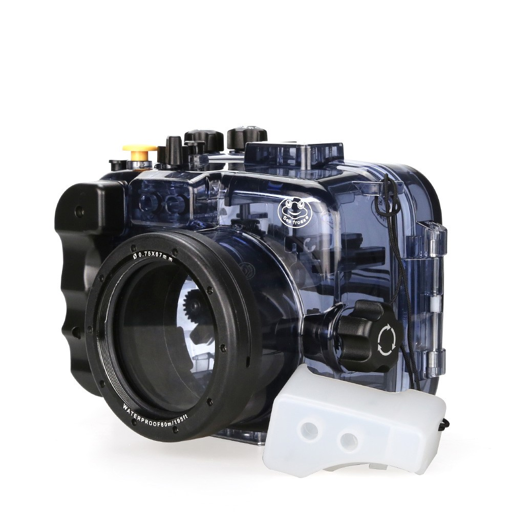 SeaFrogs Impermeável Caso Caixa Da Câmera Subaquática para Sony Alpha A6000 A6300 A6500 60 m/195ft Usado Com 16 à prova d' água -50mm Lente