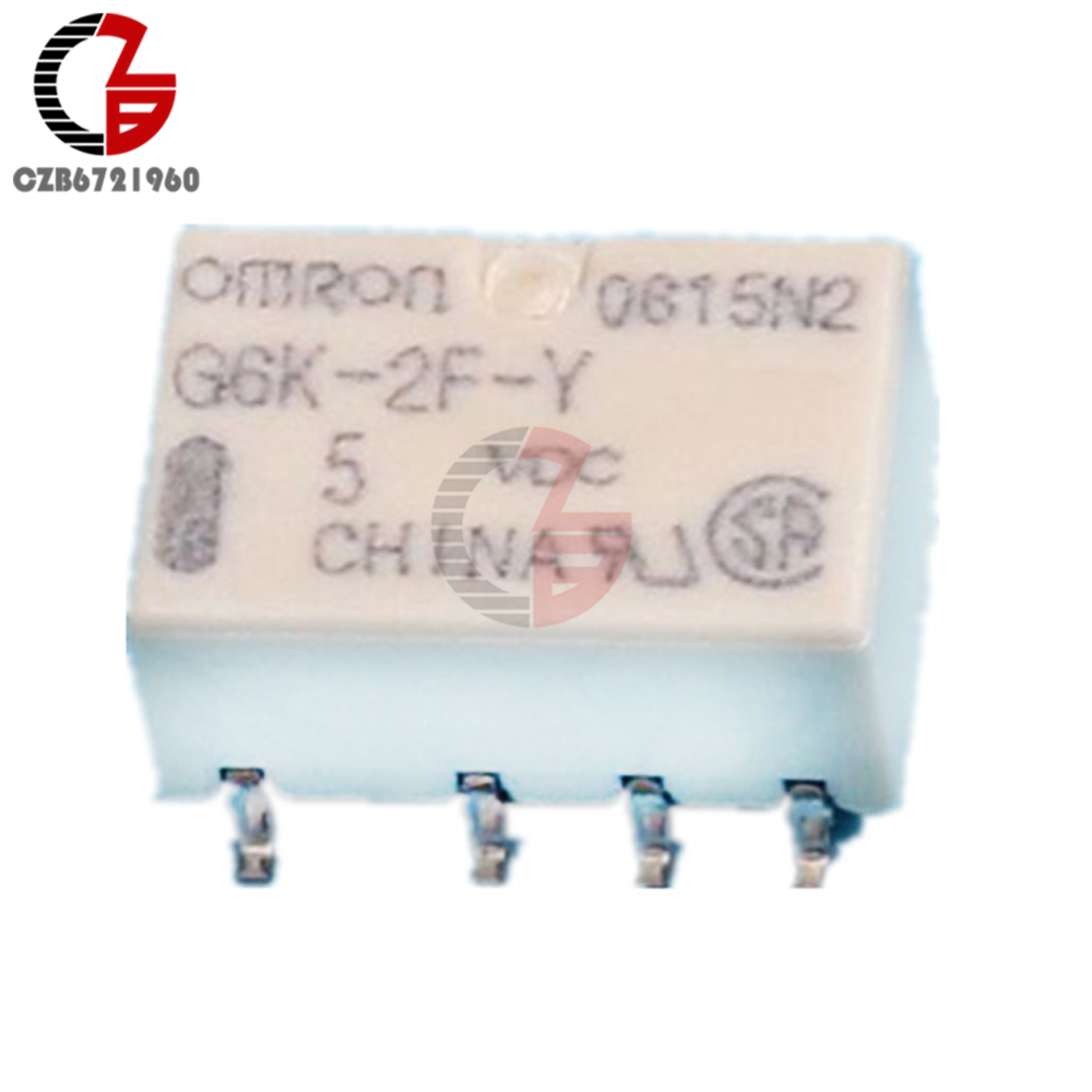 5PCS 12V SMD G6K-2F-Y-12VDC Signal Relay 8PIN for Omron Relay MF
