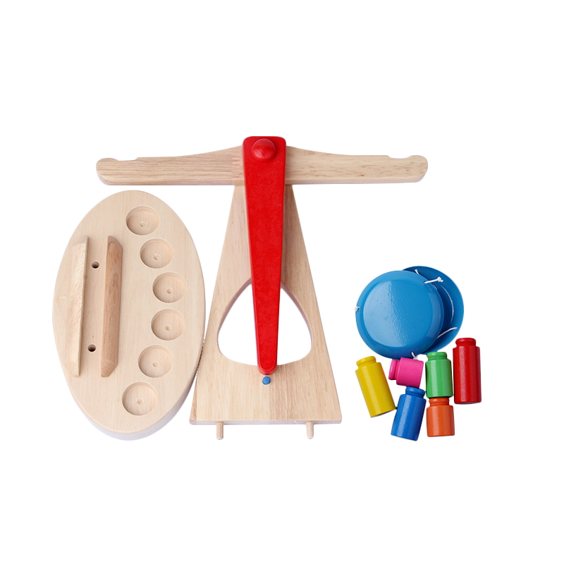Montessori Toys Educational Wooden Toys for Children Early Learning Kids Balance Scale Teaching Aids