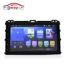Бесплатная доставка 9 «авто радио для Toyota Prado 2004-2009 Cpu: Quadcore Android 4.4 мультимедиа автомобиля с 1 Г RAM, 16 Г iNand, рулевое колесо