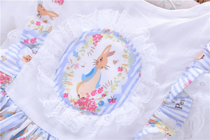 Image 4 - spring baby girls dresses rufles long sleeve spanish vintage lolita rabbit bunny kids outfit childrens clothing boutiques