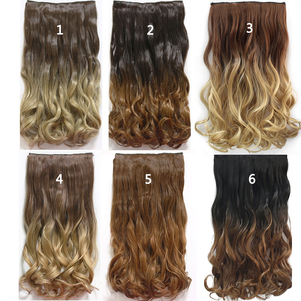 12style 24inch one piece curly hair clips in ombre tone dip dye 12style 24inch one piece curly hair clips in ombre tone dip dye synthetic hair extensions heat resistant fading 135g cabelo hair on aliexpress alibaba pmusecretfo Gallery