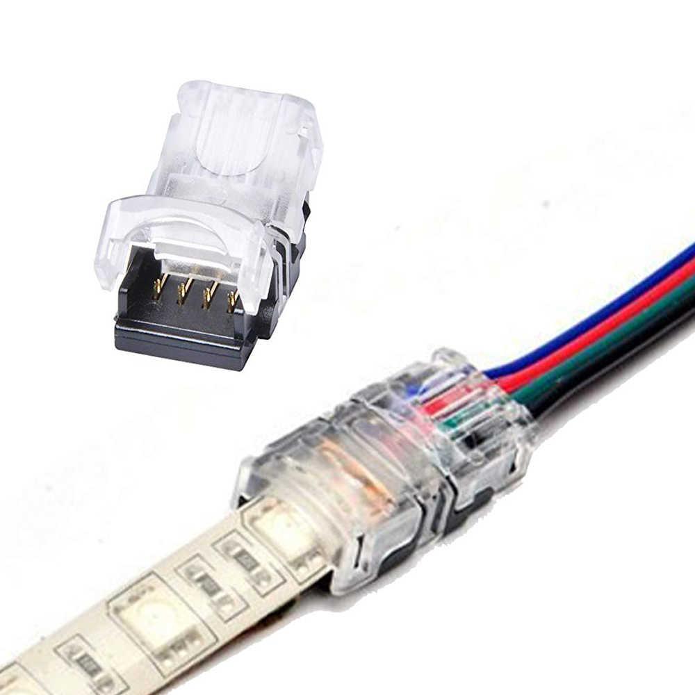 2Pin 4Pin 5Pin مقاوم للماء IP65 LED موصل الشريط كليب سلك RGB RGBW تمديد محول ل 5050 3528 rgb rgbw قطاع ضوء 1 قطعة