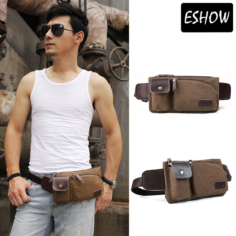 Eshow Canvas waist purse for men Cool belt bag Best waist ...