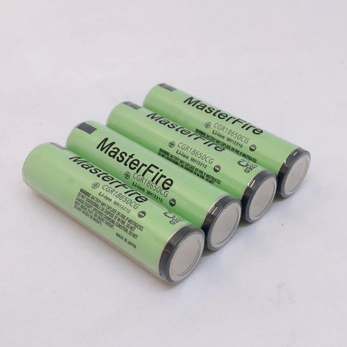 MasterFire 8 CGR18650CG pçs/lote Original Protegido 18650 3.7V 2250mAh Bateria Recarregável do Leão Baterias com PCB Para Panasonic