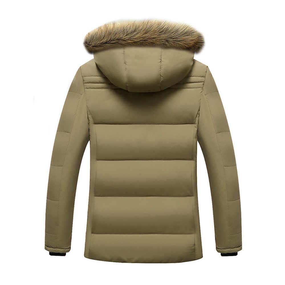 Куртка с меховым воротником и капюшоном 2018 мужские пальто камуфляжные толстые ветрозащитные качественные повседневные зимние куртки мужские