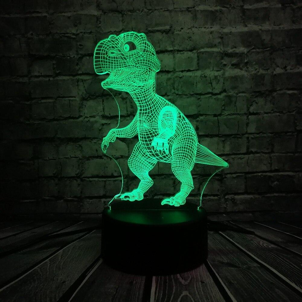 3d Lamp Dier Dinosaurus Kid Speelgoed Kerstcadeaus 7 Kleuren Veranderen Verlichting Verlichting Led Lamp Slaapkamer Naast Luminaria Decoratieve