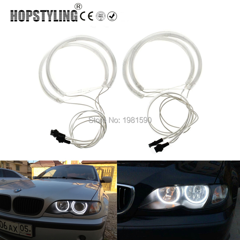 Hopstyling 1 set 2x131mm 146mm SMD Halo ring Angel eyes for BMW E46 non projector car headlamps Error Free car-styling feeldo 2x 146mm 2x 131 5mm white car ccfl halo rings angel eyes led headlights for bmw e46 non projector light kits fd 4174
