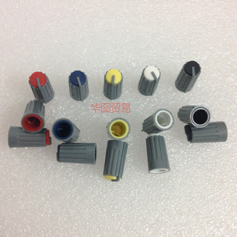 10pcs Behringer Mixer Half Axle Potentiometer Knob Cap / Red Yellow Blue Black White 270 Degrees Audio Light Knob Cap Audio