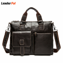 Hot Sale 100% Genuine Leather Men Bag Shoulder Bags Brand New Vintage Laptop Business Men's Travel Bags Tote Men Messenger Bags