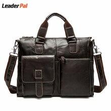 Hot Sale 100% Genuine Leather Men Bag Shoulder Bags Brand New Vintage Laptop Business Men's Travel Bags Tote Men Messenger Bags
