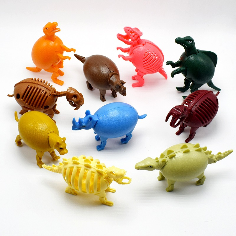 2017 NEW Jurassic Therizinosaurus Dinosaur toy Deformation robot Dino Egg Children Kid Fun Funny Toys Gift Gadget