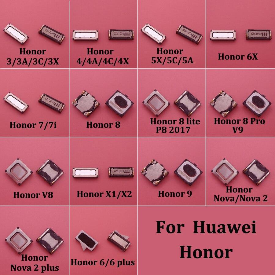2pcs  Earpiece Ear Speaker For Huawei Honor 3 3A 3C 3X 4 4A 4C 4X 5A 5C 5X 6 6 Plus 7 7i 7X 8 9 Lite Pro V9 V8 Nova 2 Plus X1 X2