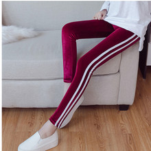 JUJULAND woman leggings elastic waist solid flannel pencil pants high autumn winter casual 119
