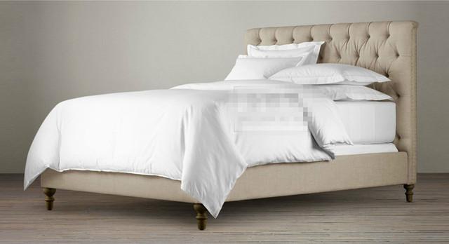 Copetudo diamante botones respaldo alto contemporáneo de tela para dormir cama King Size dormitorio muebles de China