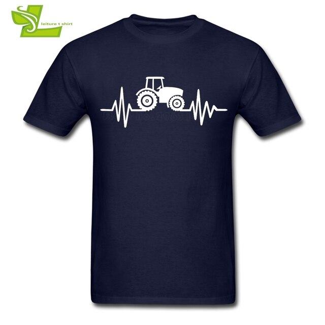 Traktor T Kemeja pria Lengan Pendek Leher Bulat Tee Laki-laki Terbaru Tops Besar Latihan Populer Nyaman Teenboys Tee Shirts petani