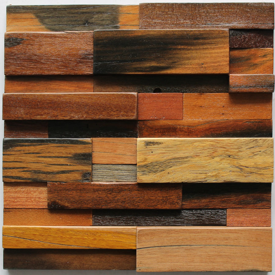 Wall Decor Wooden Us 327 79 Antique Wood Mosaic Tiles Striped Subway Free Size Home Walls Decoration Material Backsplash Wooden 3d Panels 12x12 Mesh Sheet On