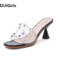 DiJiGirls Summer High Heels Women Slippers Fashionable Openwork Funnel high heels Leisure Comfort Outdoor Shoes