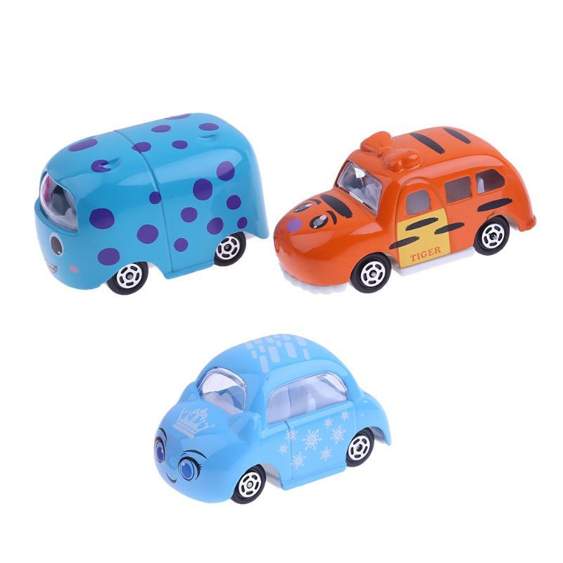 6pcs/set Funny Cartoon Animal Alloy Car Model Mini Cute Animals Car Toys for Kids Boys Children Birthday Gift Present