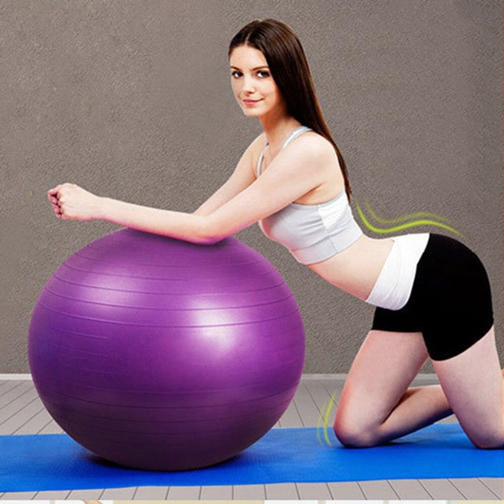 65 cm Anti-déflagrant Yoga Fitness balle GYM maison Pilates épaissir Yoga balles pas d'odeur équilibre Sport anti-dérapant pour l'entraînement de Fitness