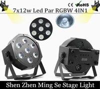 Fast Shipping 7x12w Led Par Lights RGBW 4in1 Flat Par Led Dmx512 Disco Lights Professional Stage