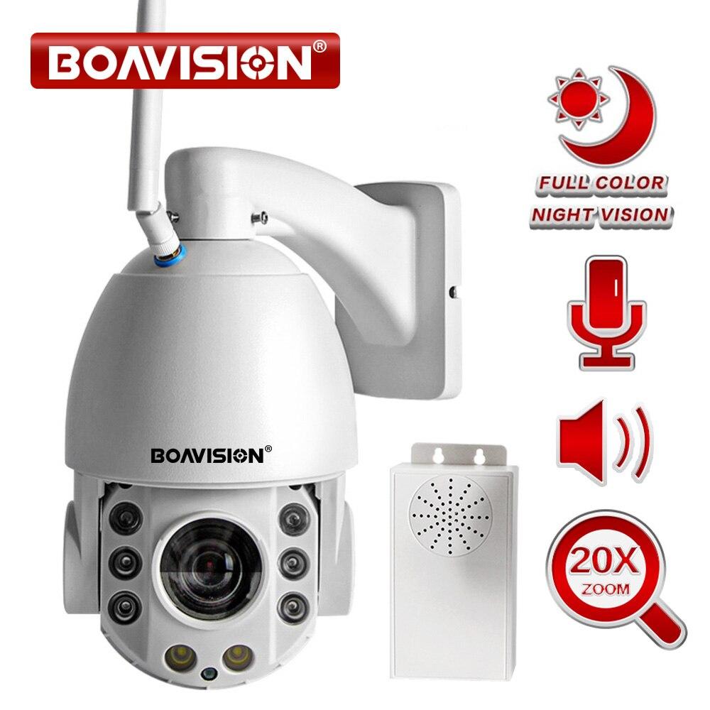 20X Zoom 1080 p Wifi PTZ IP Caméra Extérieure 2 Façon Audio Étanche IP66 Pleine Couleur de Vision Nocturne de Sécurité CCTV caméra Android IOS