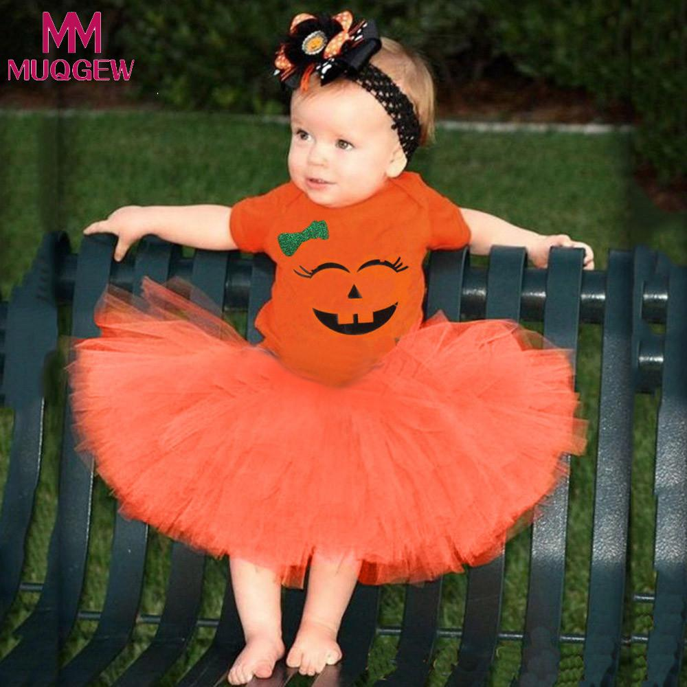 Clothing Sets Useful Muqgew Jumpsuit 6m-24m Toddler Newborn Baby Girls Clothes Cartoon Romper Skirt Halloween Costume Outfits Set Roupa De Bebe Terno Moderate Price Girls' Baby Clothing