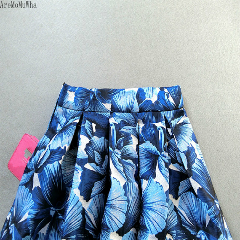 Para Qx452 De Vestido Niñas 2019 Alta Ropa Primavera Cintura Larga Las Faldas Mujeres Falda Nueva Temperamento Azul Aremomuwha ptqwTw